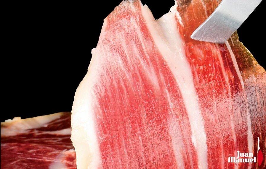 escoger un jamón ibérico de calidad - loncha