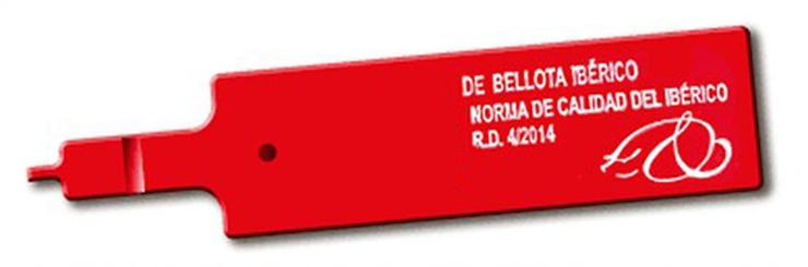 Etiqueta roja de bellota ibérico