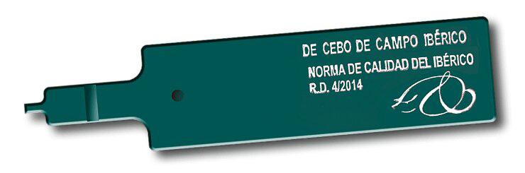 Etiqueta verde de bellota ibérico