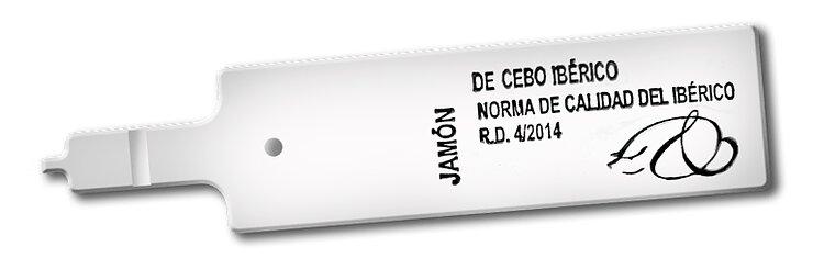 etiquetas del jamón blanca