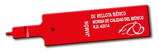 etiquetas del jamón roja