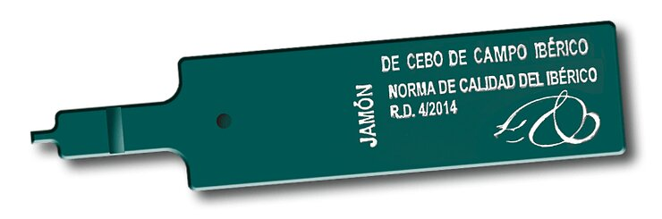 etiquetas del jamón verde